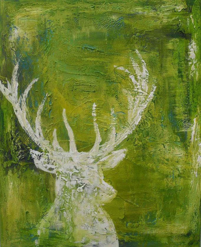 white deer, 2013 100 x 80 cm  (verkauft)
