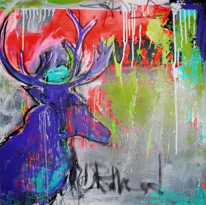 Hirsch-ART, 2013 80 x 80 cm