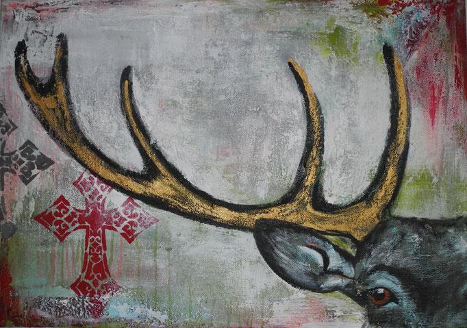 Ludwig II, 2013 70 x 100 cm  (verkauft)