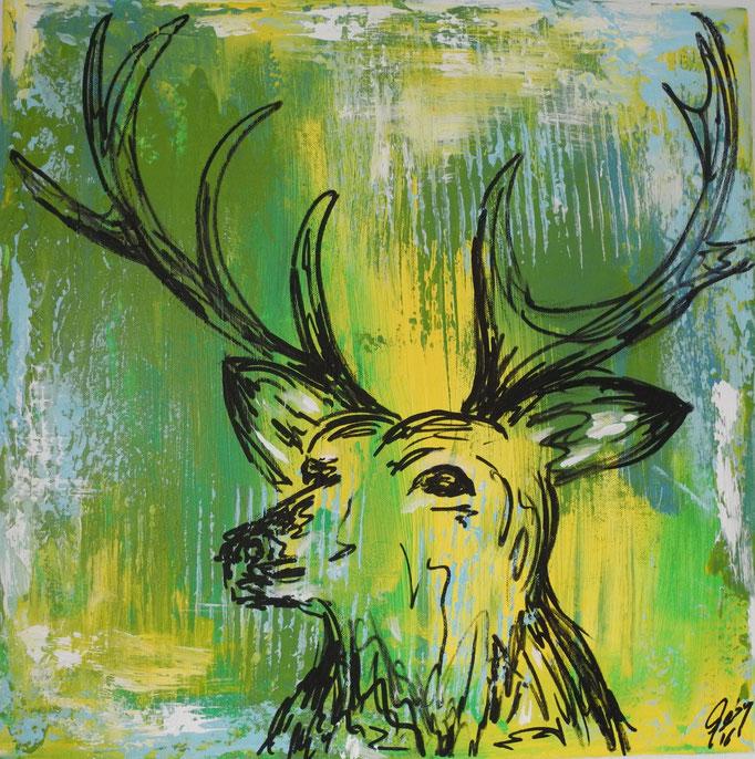 Wildfang, 2016 50 x 50 cm
