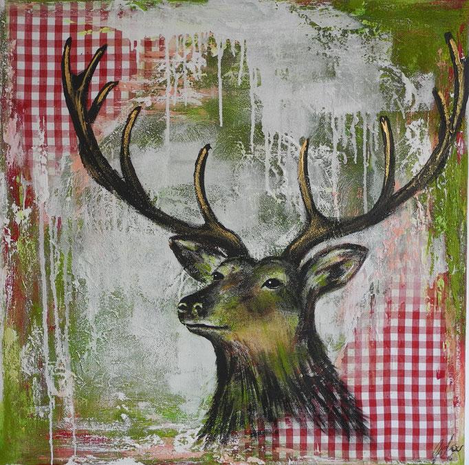 Rudolph, 2016 100 x 100 cm (verkauft)