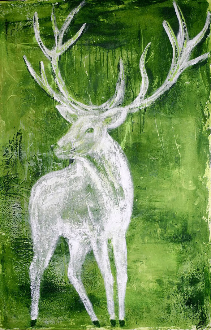 White deer II, 2014 150 x 100 cm