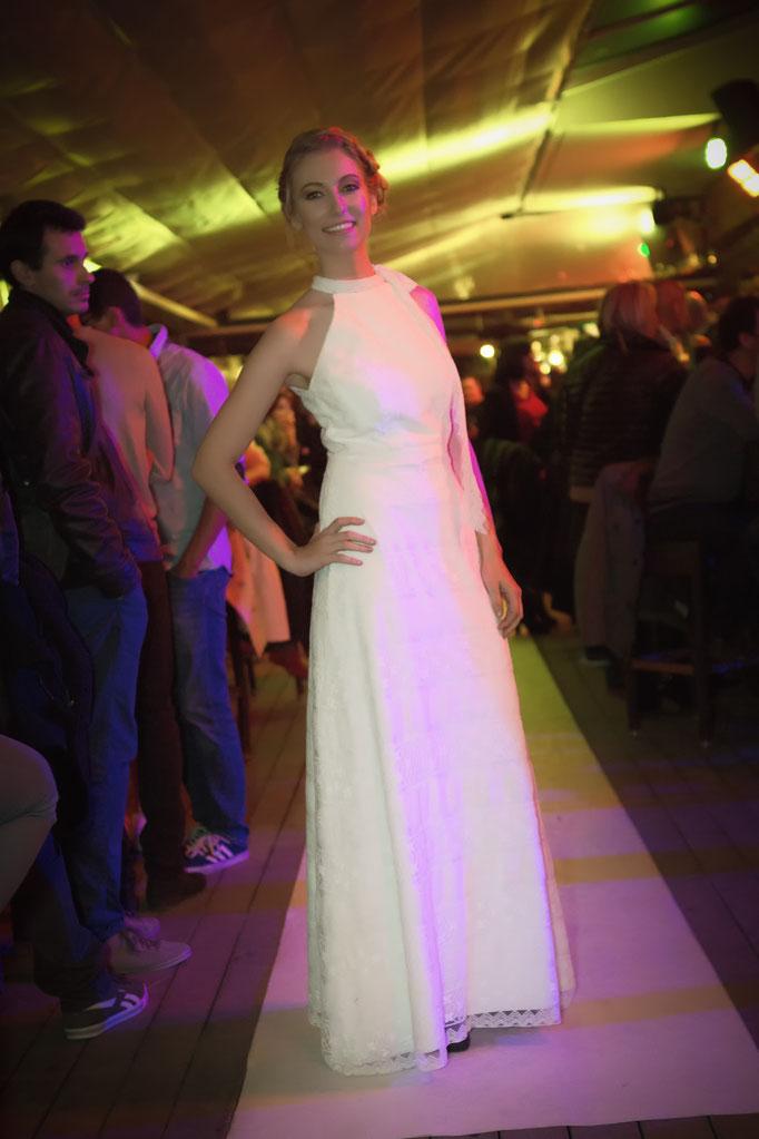 robe de mariée de créateur, dentelle de coton esprit bohème