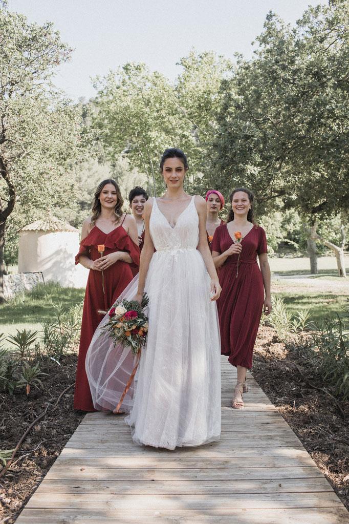 Robe de mariée princesse boho