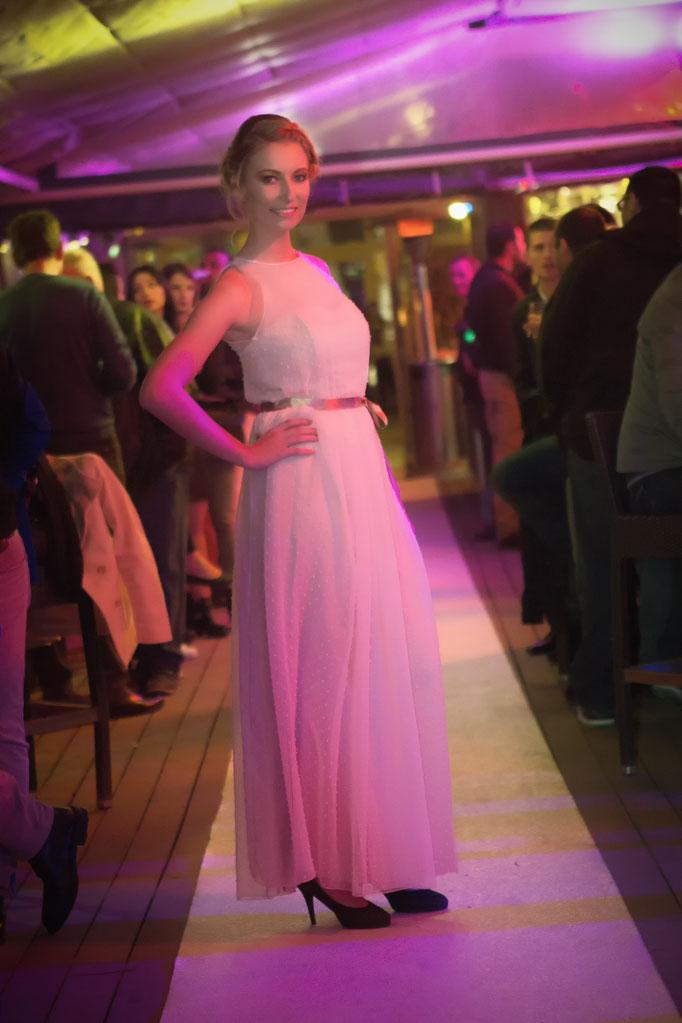 robe de demoiselle d'honneur en plumetis