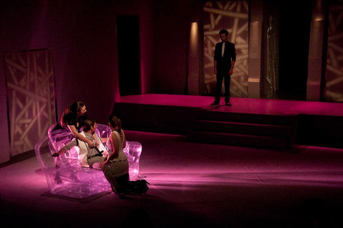 Alexandra Ilsenor, Cory Thibert, Lily Sutherland, Tony Adams - Princess Ivona - Université d'Ottawa - Photo Théâtre Marianne Duval
