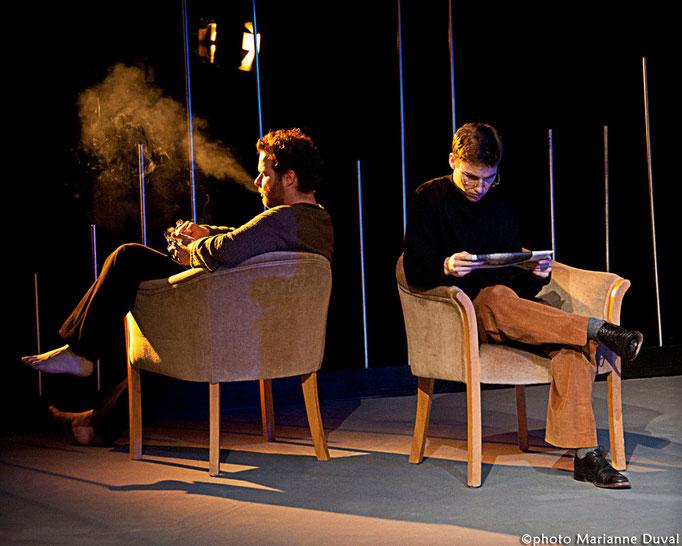 Patrick Potvin, Guillaume Saindon - Le Temps et la chambre - Université d'Ottawa - Photo Théâtre Marianne Duval