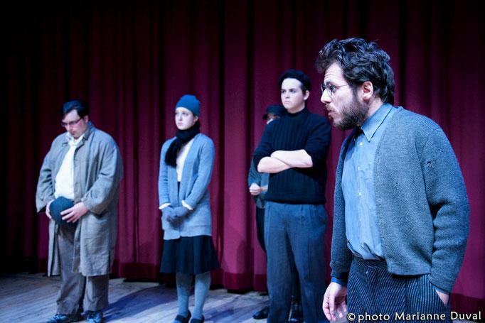 Yves Mayer, Sophie Slakov, Charles Rose, François Ouimet – Mephisto - Université d'Ottawa - Photo Théâtre Marianne Duval