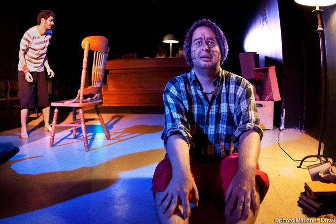 Sylvain Sabatié, Patrick Potvin - Monstres sans soucis - Théâtre de Dehors - Photo Théâtre Marianne Duval