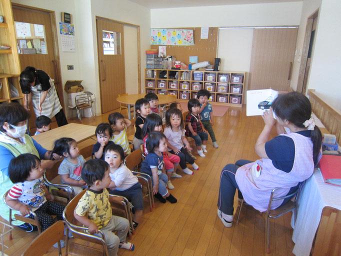 乳児クラス。帰りの集まり