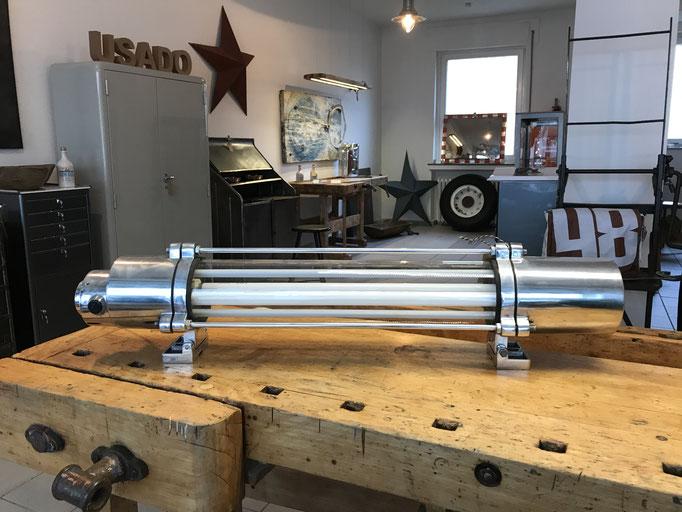 Lampe Bergbau, explosionsgeschützt, Aluminium poliert, Dimmer, 190 x 24 x 20 (b x t x h)