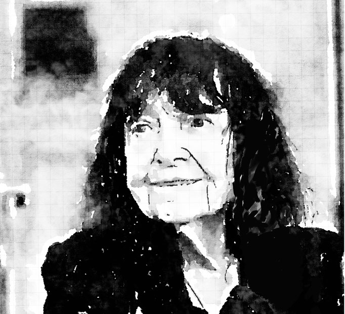 Friederike Mayröcker (Zeichnung:Kauz)