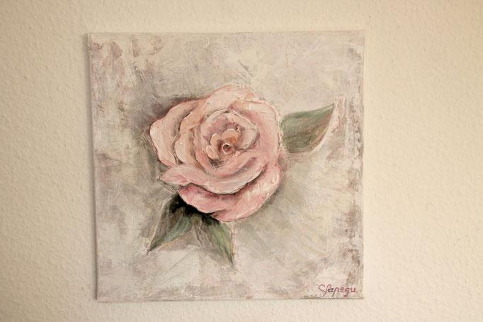 30 x 30 cm Acryl  und Paste auf Leinwand