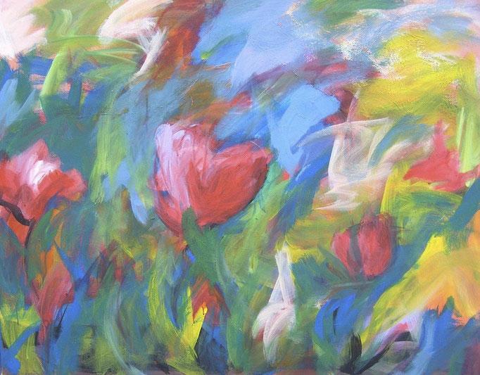 Fleurs dans le vent - 100x80 - 2010