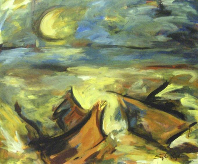 Bateaux au clair de lune - 100x120 - 2009