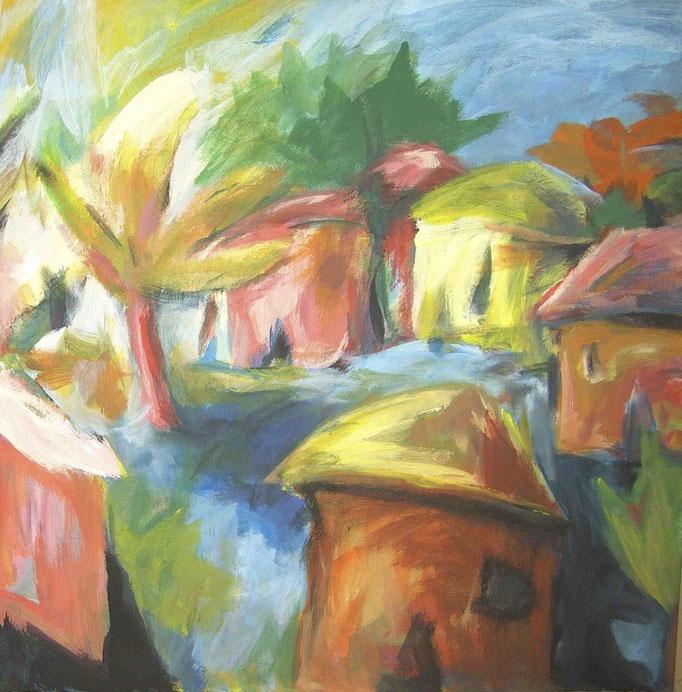 Bicoques bariolées - 100x100 - 2011