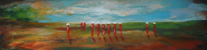 Rouges en campagne - 20x80 - 2013