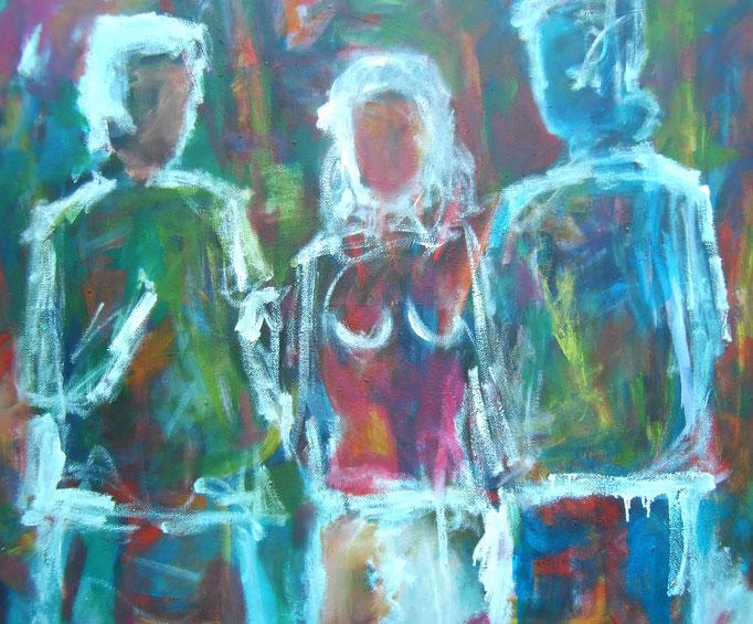 Blancs coeurs croisés - 120x140 - 2016