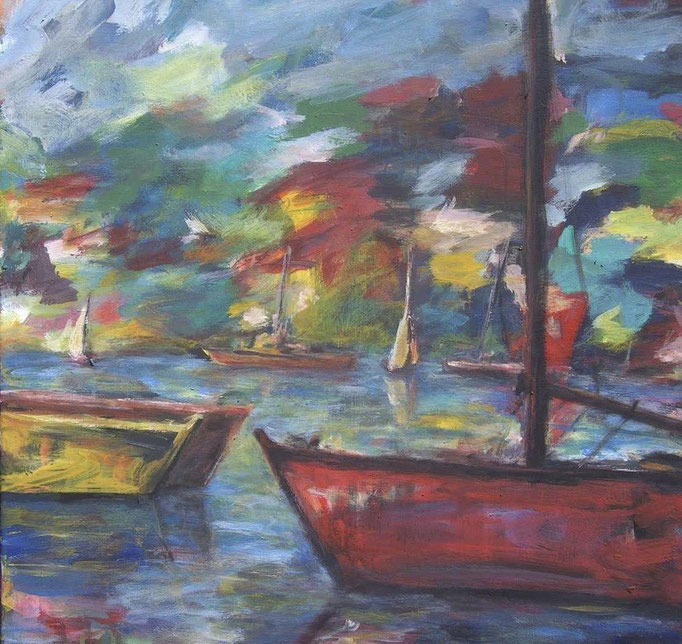 Havre marin chatoyant - 60x60 - 2008