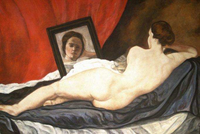 Nach Venus et Cupido de Velasquez - 80x100 - 2010