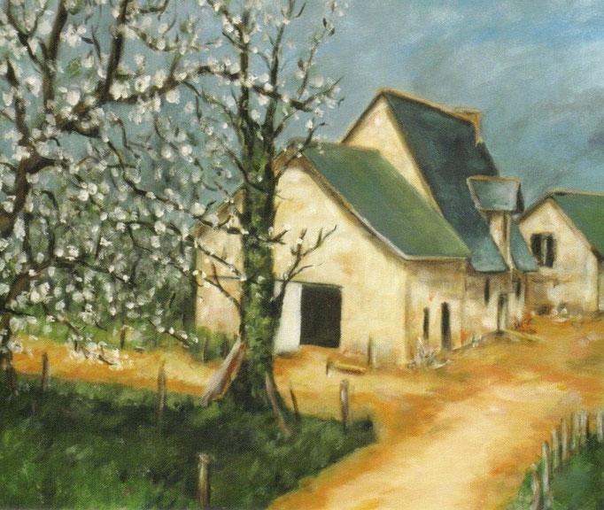 Ferme bretonne au printemps - 50x60 - 2006