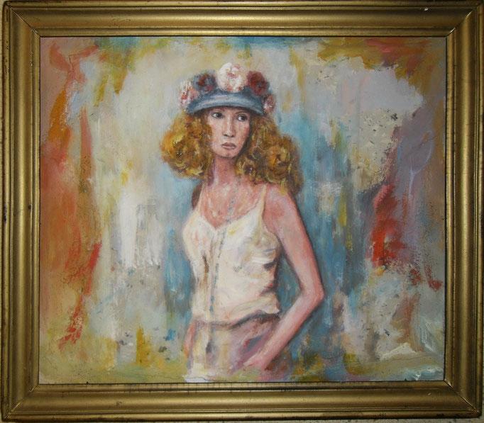 Triste lady - 40x50 - Auf papier encadré - 2011