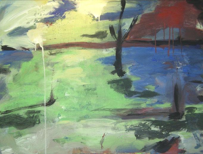 Notre jardin abstrait - 60x80 -2009