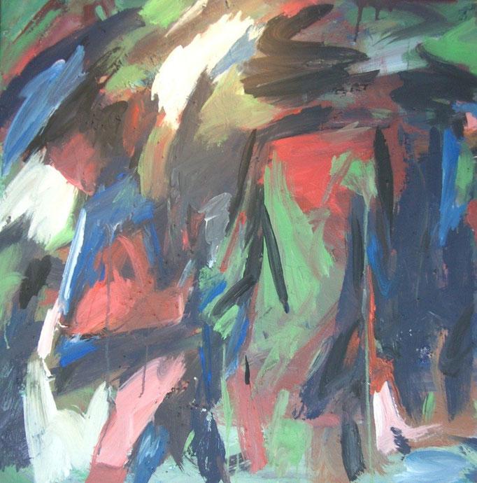 Balade abstraite  - 80x80 - 2008