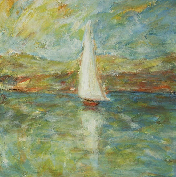Voile solitaire - 80x80 - 2011