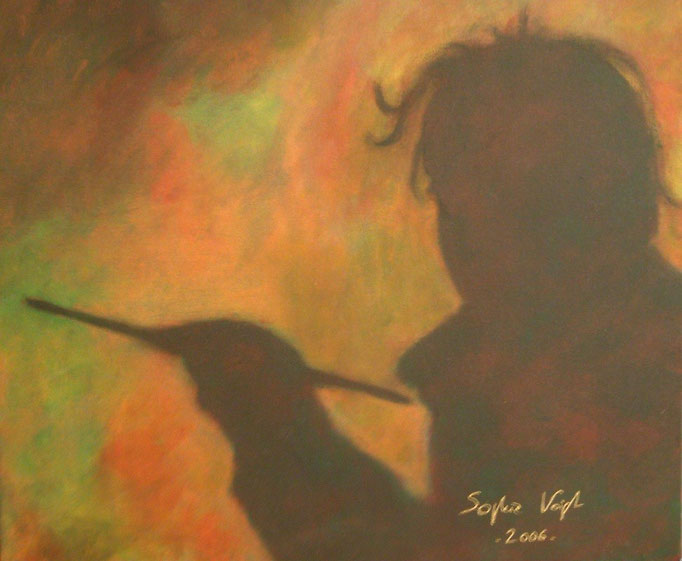 Mon ombre sur la toile - 50x60 - 2007