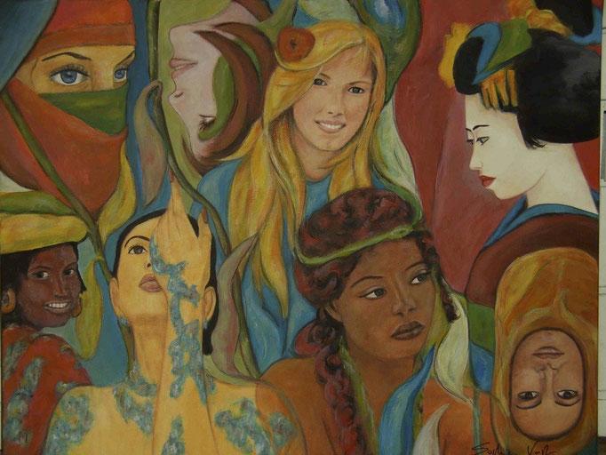 Fleurs et femmes - 100x80 - 2010