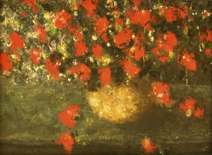 Fleurs des champs - 30x40 - eingerahmt auf Spanplatte - 2006