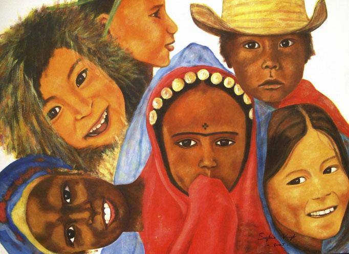 Enfants du soleil et des neiges éternelles - 80x100 - 2010