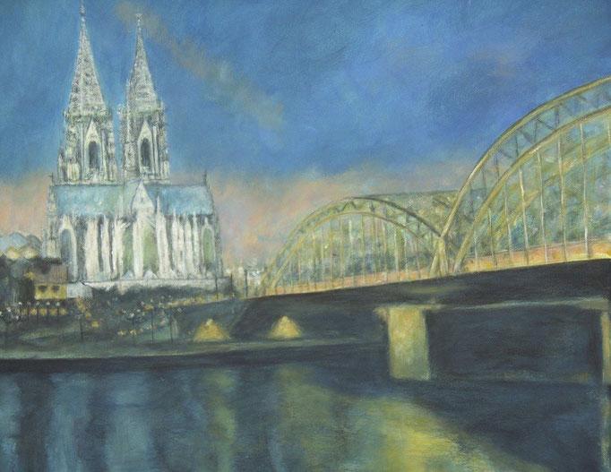Cathédrale de Cologne la nuit - 60x50 - 2010
