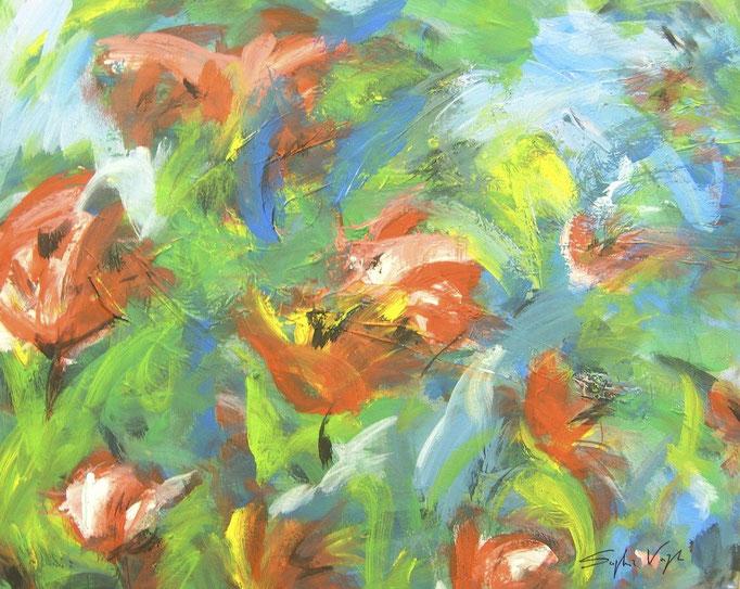 Fleurs dans le vent - 80x100 - 2010