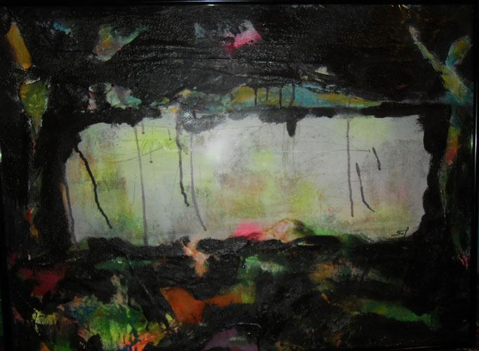 Pêche en aquarium - 60x80 -2016