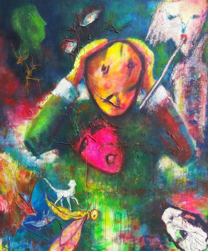 Sof qui peut epileptico-chaotique - 140x120 - 2015