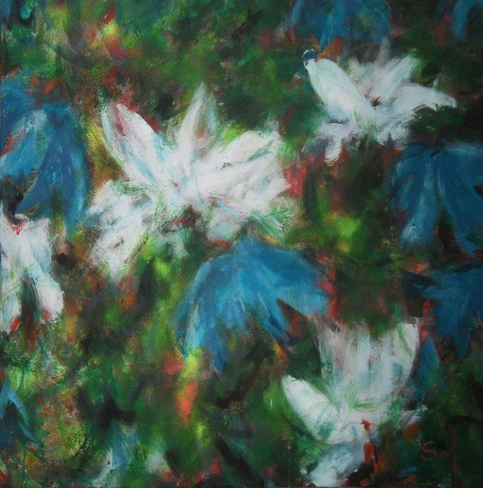 Blanches et bleues - 100x100 - 2014