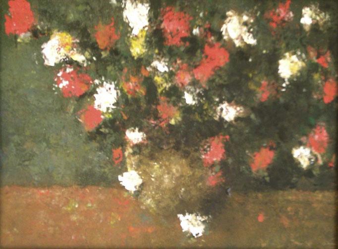 Fleurs des champs en bouquet - 40x30 - auf Spanplatte - 2008