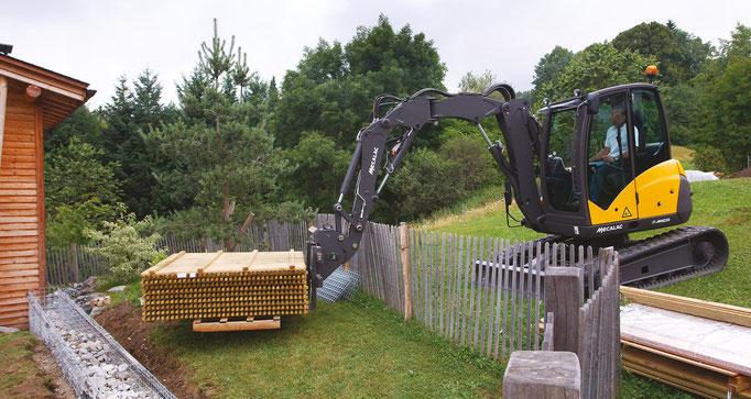Bild: Mecalac Kettenbagger 6MCR im Einsatz