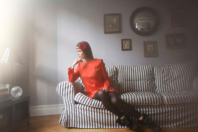 Nérissa : robe poches plaquées,100% coton - Jeanne Berre