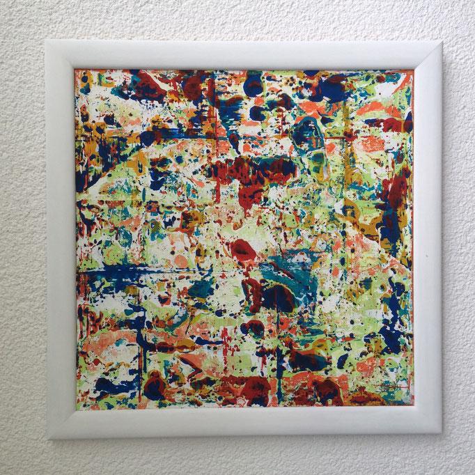 Begegnungen, Acryl gespachtelt, 2015