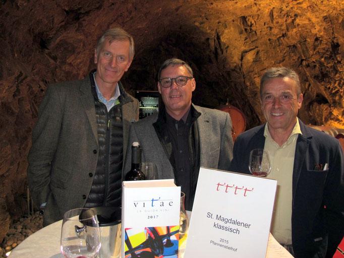 MICHAEL GOëSS-ENZENBERG, Präsident der Freien Weinbauern und MAX NIEDERMAYR, Präsident des Konsortiums Südtiroler Wein