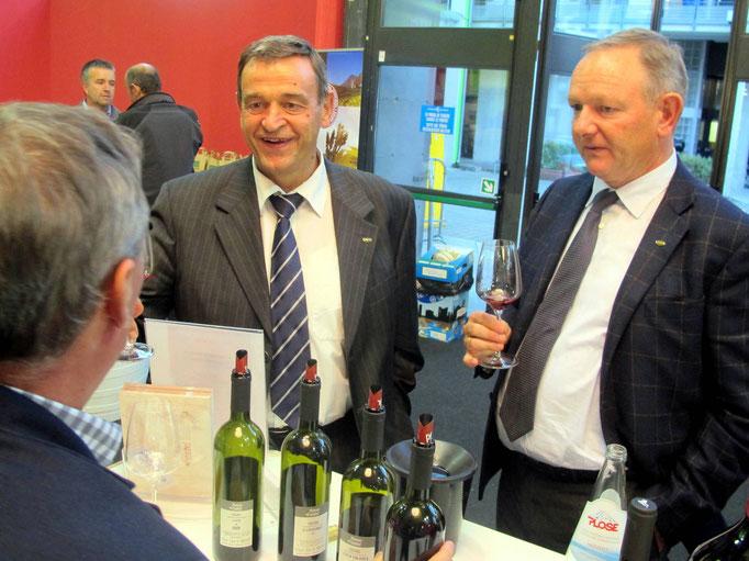 GOTTFRIED SCHGAGULER, HGV-Bezirksobmann und MANFRED PINZGER, Präsident des HGV
