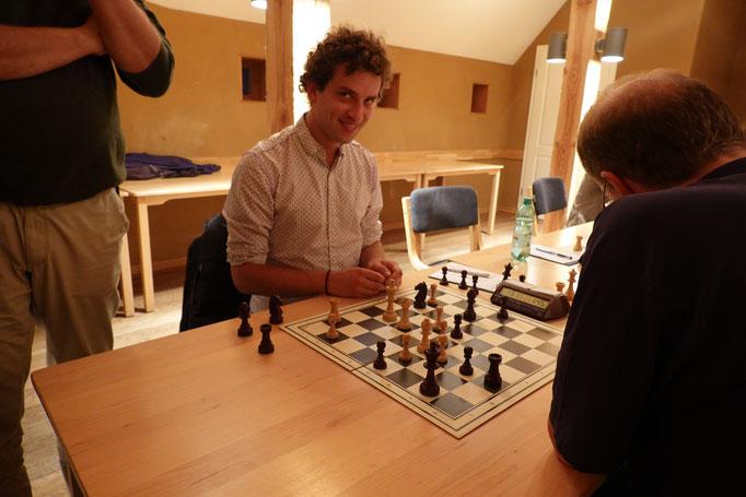 Daniel Thieme war heute nicht zu stoppen und war als erstes mit seiner Partie durch
