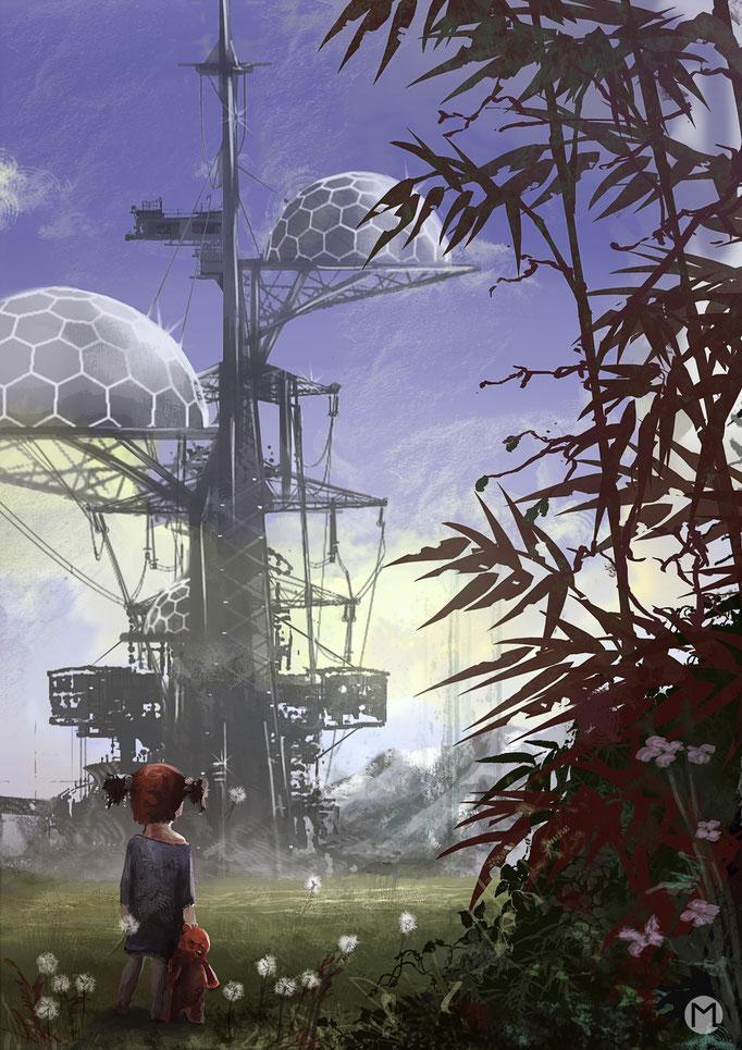 Concept Art - Illustration - Environment - Tree Tower