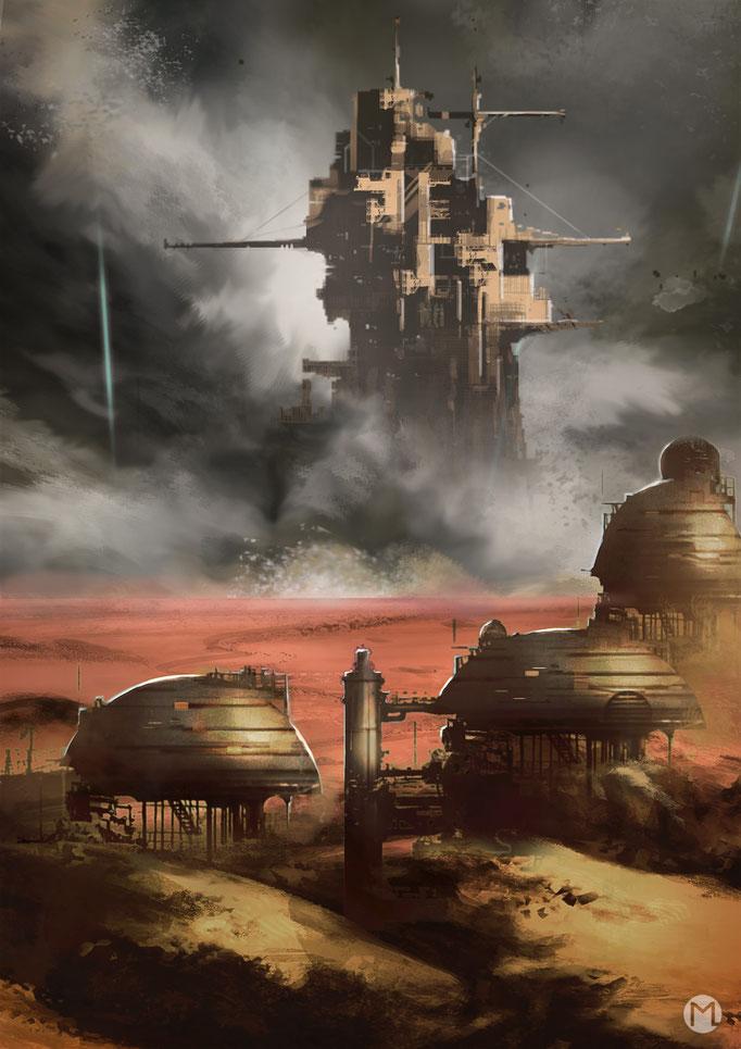 Concept Art - Illustration - Die letzten Tage vom Mars
