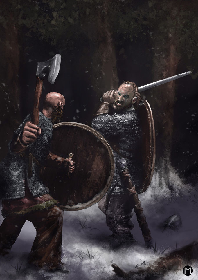 Concept Art - Illustration - Duel in the North