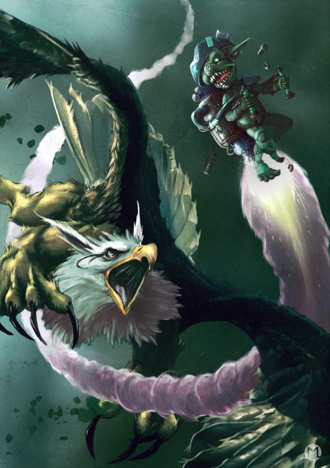 Artwork - Illustration - The Griffin and the Weirdo