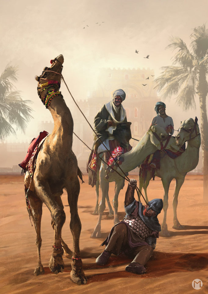 Concept Art - Illustration - Northman vs Camel